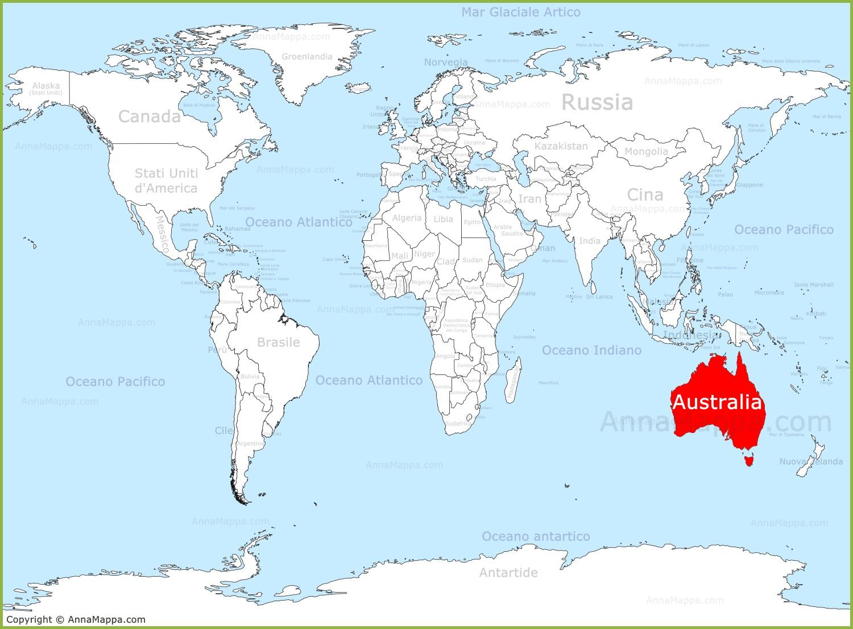 Nuova Zelanda Cartina Mondo.L Australia Sulla Mappa Del Mondo Annamappa Com