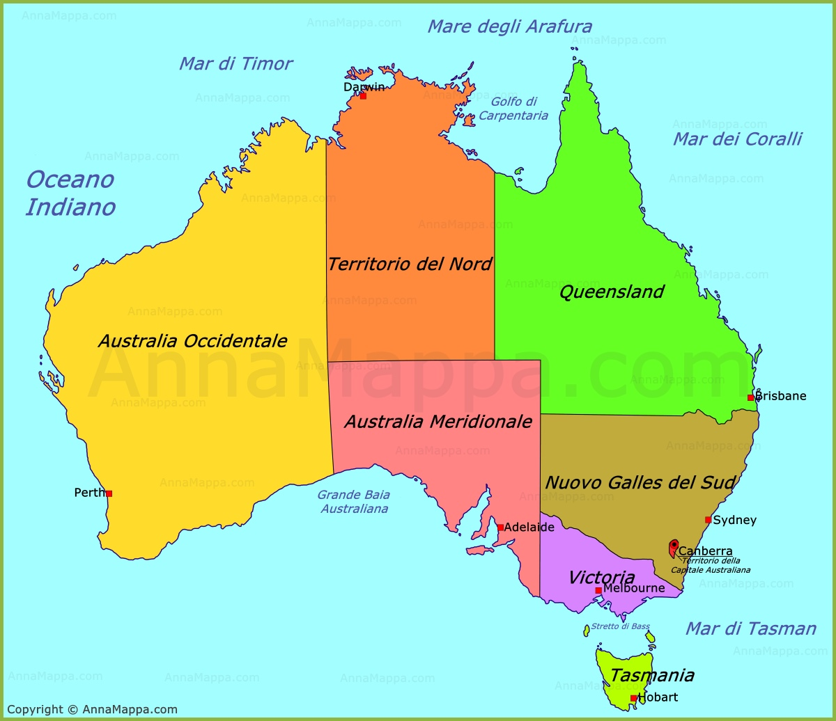 Cartina Australia Politica.The Australia Lessons Tes Teach