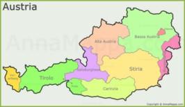Cartina Del Austria.Mappa Austria Cartina Austria Annamappa Com