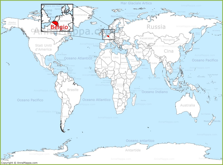 Cartina Mondiale Stati.Belgio Sulla Mappa Del Mondo Annamappa Com