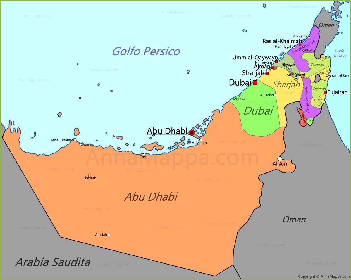 Aeroporto Emirati Arabi : Abu dhabi on map check out cntravel