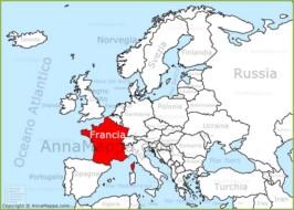 Cartina Francia Sud Dettagliata.Mappa Francia Cartina Francia Annamappa Com