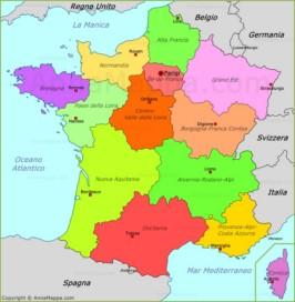 Foto Della Cartina Della Francia.Mappa Francia Cartina Francia Annamappa Com