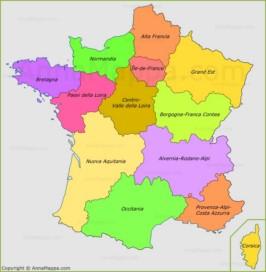 Cartina Geografica Del Sud Della Francia.Mappa Francia Cartina Francia Annamappa Com