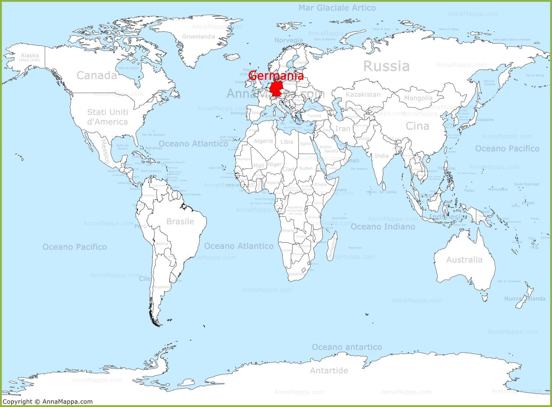 Cartina Mondiale Stati.Germania Sulla Mappa Del Mondo Annamappa Com