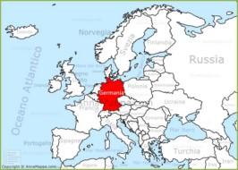Cartina Fisica Germania Con Confini.Mappa Germania Cartina Germania Annamappa Com