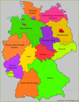 Germania Del Sud Cartina.Mappa Germania Cartina Germania Annamappa Com