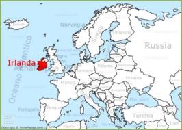 Cartina Politica Dell Irlanda.Mappa Irlanda Cartina Irlanda Annamappa Com
