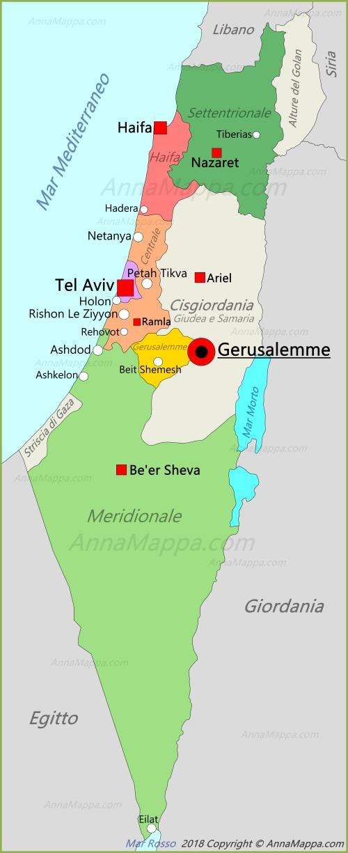 Cartina Israele.Mappa Israele Annamappa Com