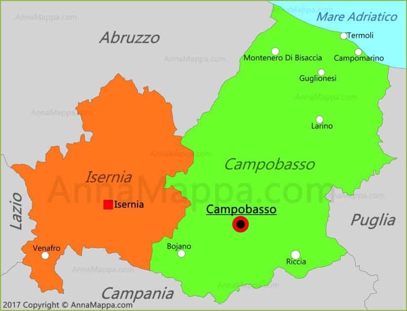 Cartina Molise Politica.Mappa Molise Italia Annamappa Com