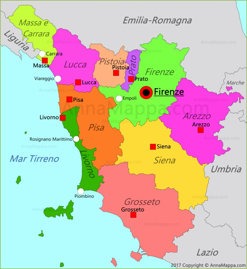 Immagini Cartina Toscana.Mappa Toscana Italia Annamappa Com