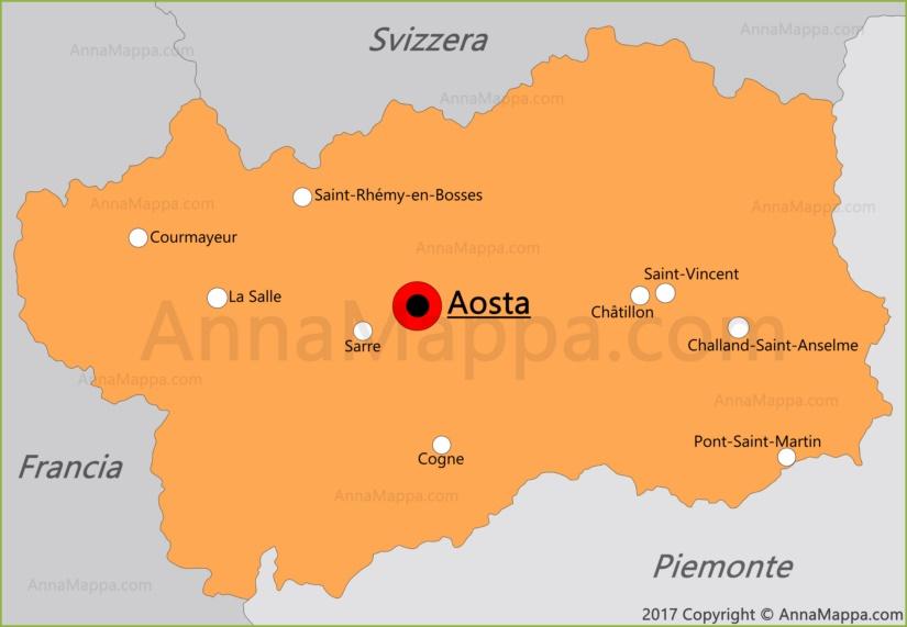 Mappa Valle d'Aosta