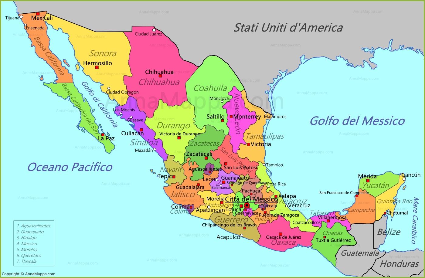 Cartina Geografica Politica Del Messico.Il Messico Lessons Blendspace