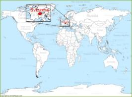 La Svizzera Cartina.Mappa Politica Della Svizzera Mappa Degli Cantoni Della Svizzera Annamappa Com